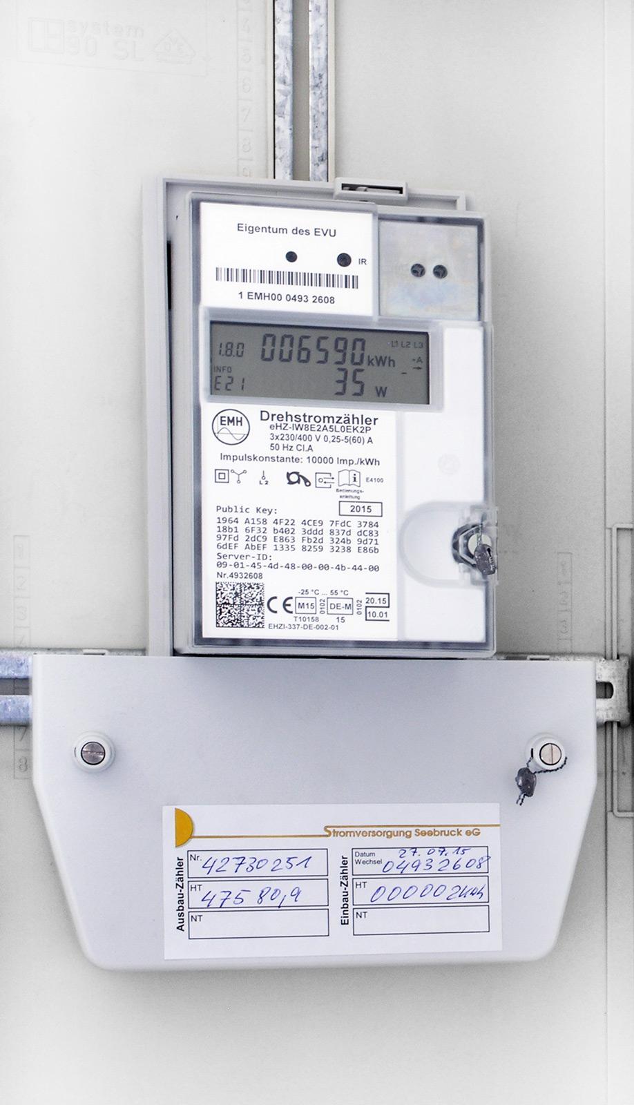 Zähler | Stromversorgung Seebruck eG